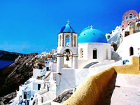 visit santorini with a greek islands cruise